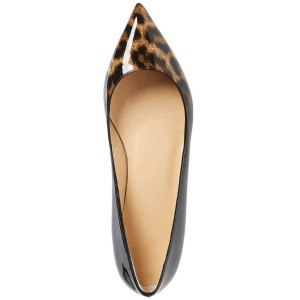 Women's Leopard Print Flats Comfortable Shoes Pointy Toe Flats