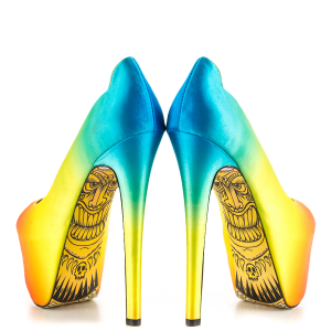 Women's Multi-Color Super High Heel Shoes Peep Toe Heels Platform Heels